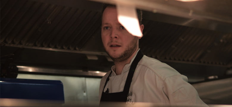 Jonny in the kitchen at The Duke