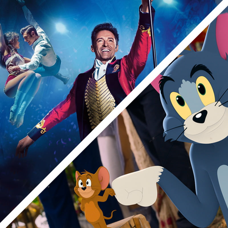 greatest showman and tom and jerry